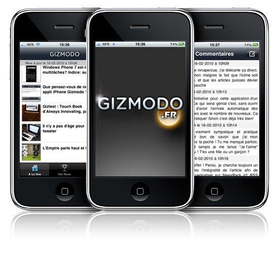 L'application Gizmodo.fr est disponible
