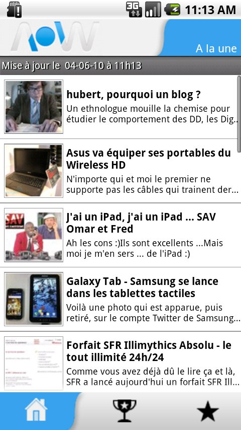 Et voici nos applications Android !